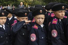 روز اول مدرسه در نووسیبرسک روسیه