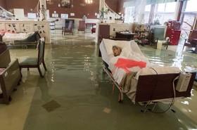 سیل بیمارستانی را در پورت آرتور تگزاس در آمریکا فراگرسته است