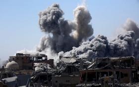 صحنه ای از درگیری ها در رقه سوریه