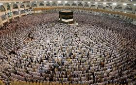 تصویری از مراسم نماز در حج امسال