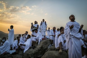 کوه عرفات در مراسم حج امسال