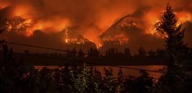 آتش سوزی در اطراف واشنگتن آمریکا