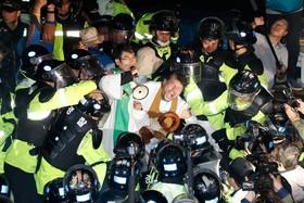 تظاهرات علیه نصب موشک های آمریکا در کره جنوبی در سئول