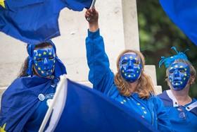 تظاهرات مخالفان خروج انگلیس از اتحادیه اروپا در لندن