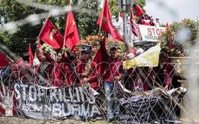 تظاهرات مسلمانان اندونزی علیه جنایت علیه مسلمانان روهینگای در میانمار