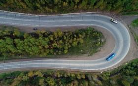 جاده ای در کراسنویرسک در روسیه در سیبری