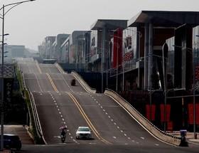 خیابان جدیدی در شهر جانگ کوئینگ در چین