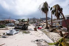 خرابی های توفان ایرما در سنت مارتین