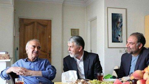 وزیر ارشاد با شفیعی کدکنی دیدار کرد