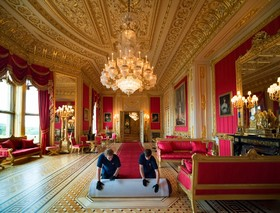 تزئین بخشی از کاخ ویندسور در انگلیس برای بازدید عمومی