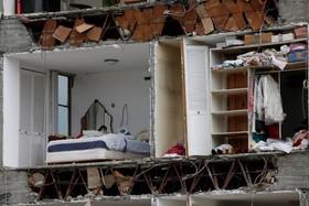 خانه ویران شده در اثر زلزله در مکزیک