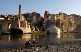 رودخانه فرات در کنار شهر تاریخی حسن کیف در عراق