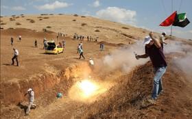 تظاهرات فلسطینی ها علیه اشغالگران در نوار غزه