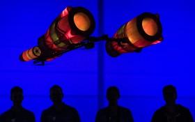 مدل کشتی فضایی در نمایشگاه هنر و بازی در لایپزیک آلمان