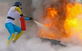 مسابقات آتش نشانان در ازمیرترکیه