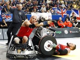 مسابقات راگبی قهرمانی معلولان جهان میان دانمارک و انگلیس در تورنتوی کانادا