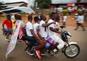 تبلیغات انتخاباتی در بوچانان در لیبریا