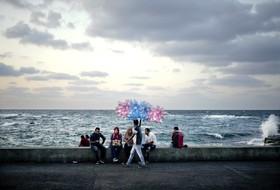 دستفروشی در ساحل اسکندریه مصر
