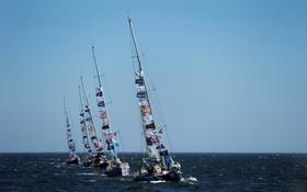مسابقه قایقرانی در سواحل اروگوئه