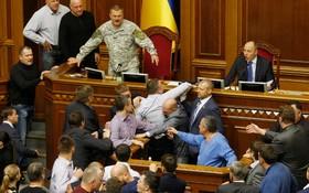 درگیری در مجلیس اوکراین