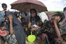آوارگان روهینگیا در حال فرار از میانمار