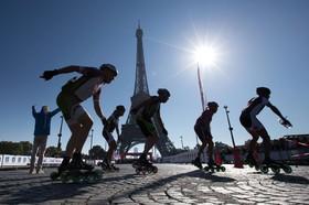 مسابقه ماراتن اسکیت سواری در پاریس