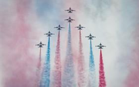 نمایش هوایی نیروی هوایی کره جنوبی در نمایشاگاه تجهیزات نظامی در سئول کره جنوبی