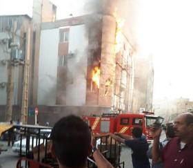 آتش سوزی در هتل آزادی آبادان