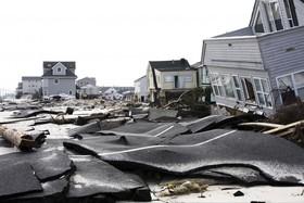 خسارات ناشی از توفان سندی در نیوجرسی آمریکا