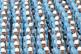 رژه گارد جمهوری در نودوچهارمین روز جمهوری در ترکیه