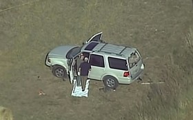 خودرویی که عامل حمله به کلیسایی در تگزاس بوسیله آن از محل گریخته و در تیراندازی پلیس کشته شد
