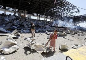 محل حمله هوایی عرستان سعودی در صنعا یمن