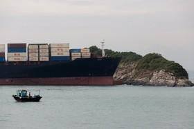 حادثه برای یک کشتی کانتینر بر در سواحل هنگ کنگ