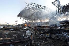 منطقه ای که عربستان بمباران کرده در صنعا در یمن