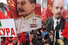 تظاهرات حامیان کمونیسم در روسیه در صدمین سالگرد انقلاب بلشویکی