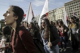 تظاهرات دانش آموزان برای اصلاح نظام آموزشی در آتن