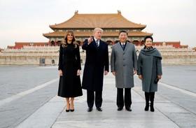 روسای جمهوری آمریکا و چین در شهر ممنوعه چین