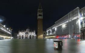 آب گرفتگی در برخی نقاط در ونیز ایتالیا
