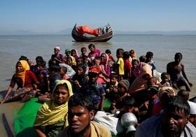 آوارگان روهینگیا که به ساحل بنگلادش رسیده اند