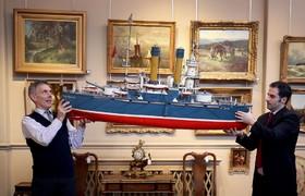 حراج یک مدل از کشتی روسی تاریخی که در قرن نوزدهم در حراجی در لندن
