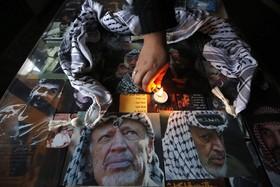 مراسم یادبود یاسر عرفات در رام الله در کرانه باختری رود اردن