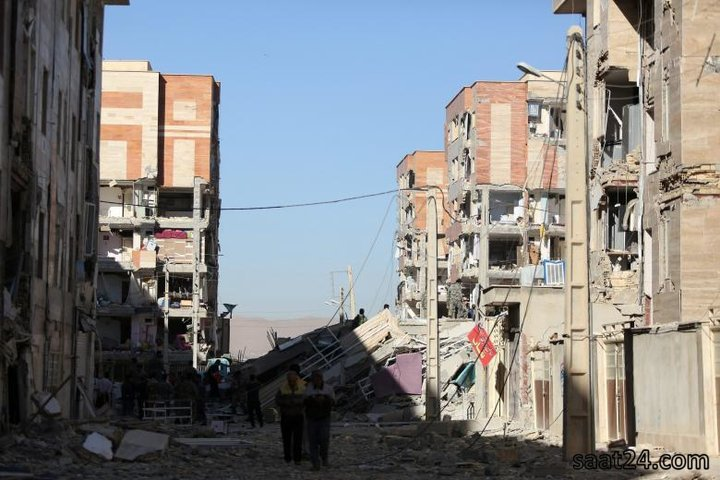 (تصاویر)عکس هایی از زلزله در دوسوی مرز ایران و عراق