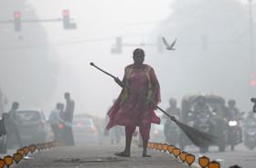 (تصاویر) عکس هایی از هوای آلوده دهلی