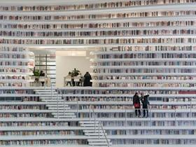 تصاویر | متفاوتترین کتابخانه دنیا با ۱.۲ میلیون جلد کتاب