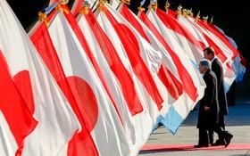 استقبال امپراتور ژاپن از پادشاه لوکزامبورک در توکیه