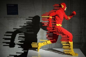 مجسمه ساخته شده از لگو در مرکز هنری در رم ایتالیا