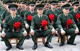 مراسم فارغ اتحصیلی نظامیان در چین