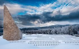قبرستان نظامی ناتزویلر در کنار اردوگاه نظامی به همین نام در شرق فرانسه