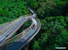 منظره ای بی نظیر،عکس راه هوایی ، فودائودر جنوب شرقی پایتخت چین در ایالت فیوجین