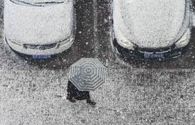 بارش برف در مناطق شرقی چین